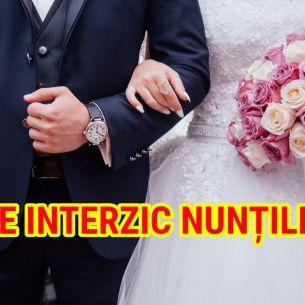 Revin restricţiile! Ce se întâmplă cu nunțile programate în septembrie și octombrie 2021? Autoritățile au facut anunțul