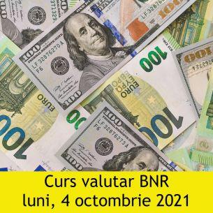 Curs valutar BNR luni, 4 octombrie 2021: Leul crește față de euro și dolar! Cele mai noi cotații