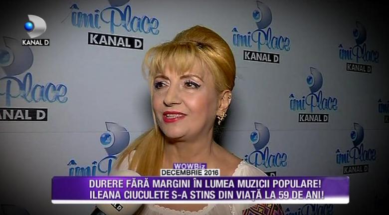 Ileana Ciuculete, condusa pe ultimul drum de colegii sai de breasla si de rudele sfasite de durere! Iata ce declaratii au facut cei mai apropiati prieteni ai artistei in cele mai cutremuratoare momente