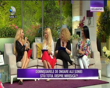 Sonia Trifan si-a ales domnisoarele de onoare pentru nunta ei! Margherita, Simona Trasca si Oana Lis au pus la cale petrecerea burlacitelor!