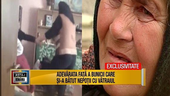 """""""Bunica terorista"""", care si-a batut nepotii cu vatraiul, pusa la zid de mama copiilor! Femeia a rupt tacerea si a vorbit in exclusivite despre corectiile fizice la care ar fi fost supusi cei doi fii ai sai si arunca cu pietre in batrana! Iata ce marturisi"""