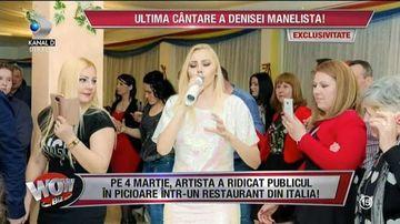 Patroana din Italia care vrea sa ii dea o parte din ficat Denisei Manelista! Interpreta a cantat ultima oara la restaurantul ei, iar femeia e in stare sa faca orice pentru a o salva