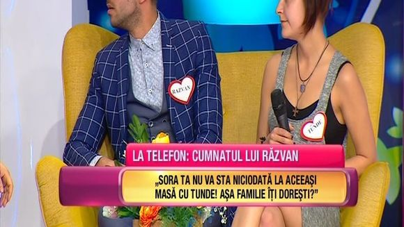 """Rasturnare de situatie in casa """"Te vreau langa mine""""! Tunde si Razvan sunt pe cale sa se desparta si au venit in platoul emisiunii sa decida viitorul relatiei lor! Iata ce decizie va lua Razvan"""