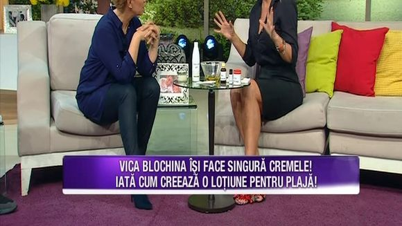 Vica Blochina ne invata cum sa ne pregatim pielea pentru vara! Iata ce lotiuni de plaja inedite realizeaza vedeta, din ingrediente naturale!