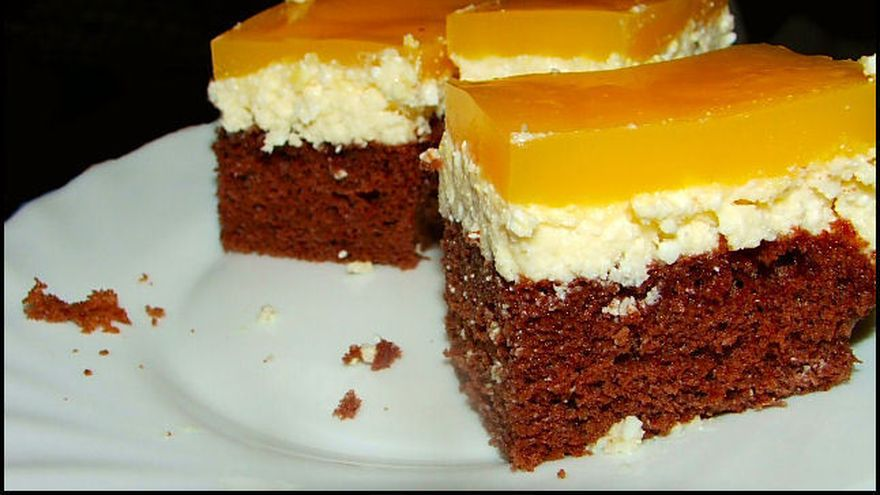 Prajitura Fanta, cu jeleu de portocale si crema de branza! Reteta ca la mama acasa!