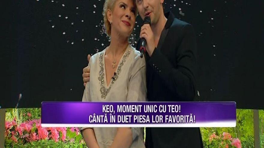 TEO TRANDAFIR, momente unice! Prezentatoarea TV a realizat un duet de senzatie cu KEO! Iata ce show inedit au facut cei doi buni prieteni!