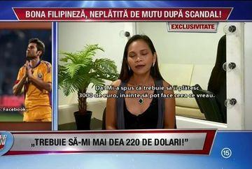 """Bona filipineza care a lucrat in casa lui Adrian Mutu este disperata! Dupa scandalul cu """"Briliantul"""", nimeni nu o mai angajeaza"""