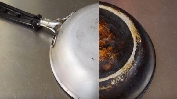 Cum se curata usor o tigaie arsa! Sigur nu stiai acest truc