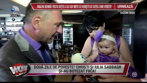 Doua zile de poveste! Cristian Sabbagh si sotia lui si-au botezat fiica!