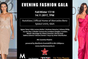 Evening Fashion Gala Fall/Winter 2017-2018! Evenimentul de moda pune accentul pe eleganta, aerul luxuriant si feminin al tinutelor de seara si de sarbatori!