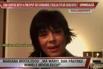 "Mariana Moculescu, dezvaluire neasteptata: ""Ma marit, dar voi pastra numele Moculescu!"""