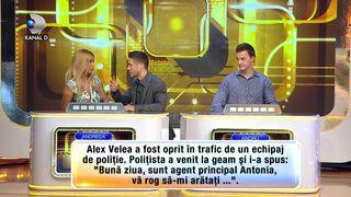 """Ce face Alex Velea cand este oprit in trafic de un echipaj de Politie? Aflam astazi, la """"Super Potriveala"""", de la ora 23:15"""