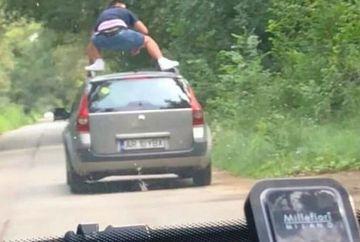 Era incepator, dar s-a urcat pe plafonul masinii, din teribilism! Ce amenda i-au dat politistii dupa ce au vazut filmarea