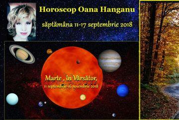 Horoscop Oana Hanganu pentru săptămâna 11-17 septembrie 2018. Află ce ti-au pregătit astrele şi dacă îţi surâde norocul