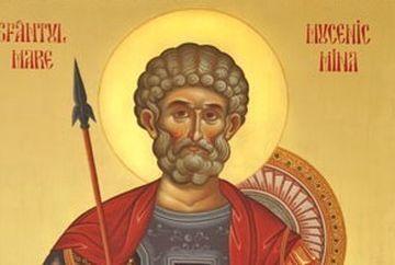 Calendar crestin-ortodox, 11 noiembrie: Sfantul Mare Mucenic Mina, ocrotitorul celor pagubiti! Ce rugaciune trebuie rostita astazi de catre credinciosi pentru a primi ajutor grabnic!