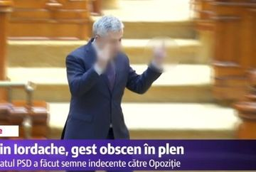 Gest socant in Parlament: Florin Iordache a facut semne obscene catre opozitie