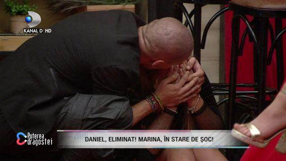 Daniel este eliminat din casa ''Puterea dragostei''! Marina Raluca, in stare de soc! S-a prabusit la pamant si nu se poate opri din plans