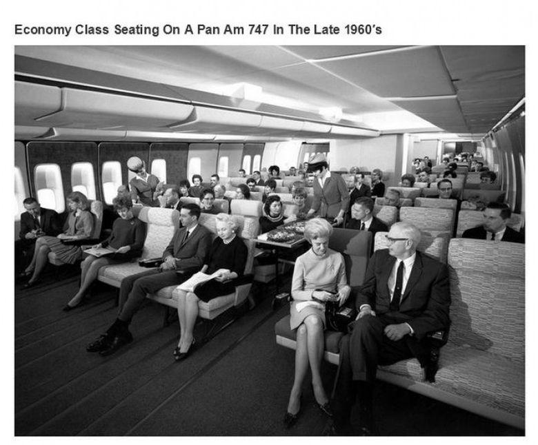 Ce insemna la amerciani zborul la clasa economica in 1960!