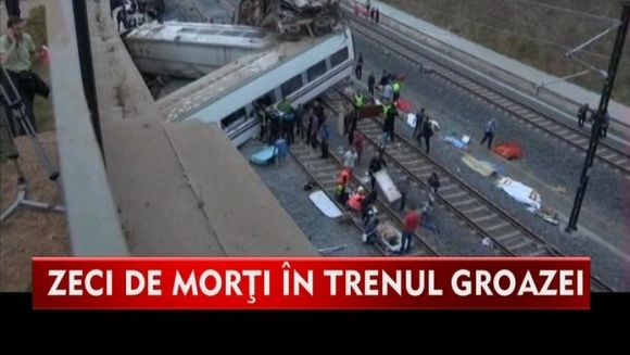TRAGEDIE in Spania! 77 de persoane au murit in urma unui accident de tren VIDEO