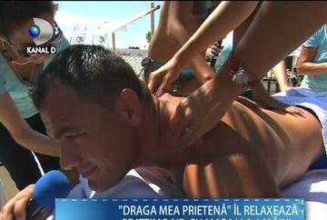"Ionut Iftimoaie, MASAJ FIERBINTE la ""Draga mea prietena"". Vezi cum a fost rasfatata vedeta Kanal D! VIDEO"