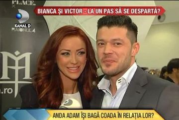 Bianca Dragusanu si Victor Slav, la un pas de DESPARTIRE? A reusit Anda Adam sa-i separe pe cei doi? VIDEO