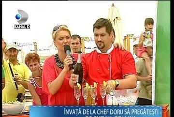 """Chef Doru, bucatarul emisiunii """"Draga mea prietena"""" te invata cum sa pregatesti un cocktail delicios de vara"""