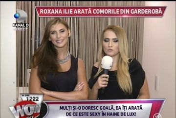 """Roxana Ilie si-a aratat pentru prima oara dulapul cu haine: """"Sunt cam dezordonata"""""""