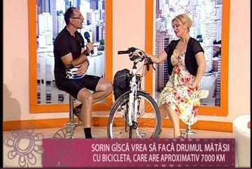 """Sorin Gisca, unul dintre cei mai pasionati oameni de bicicleta: """"Vreau sa refac Drumul matasii, adica sa parcurg cei 7 000 de km"""" VIDEO"""