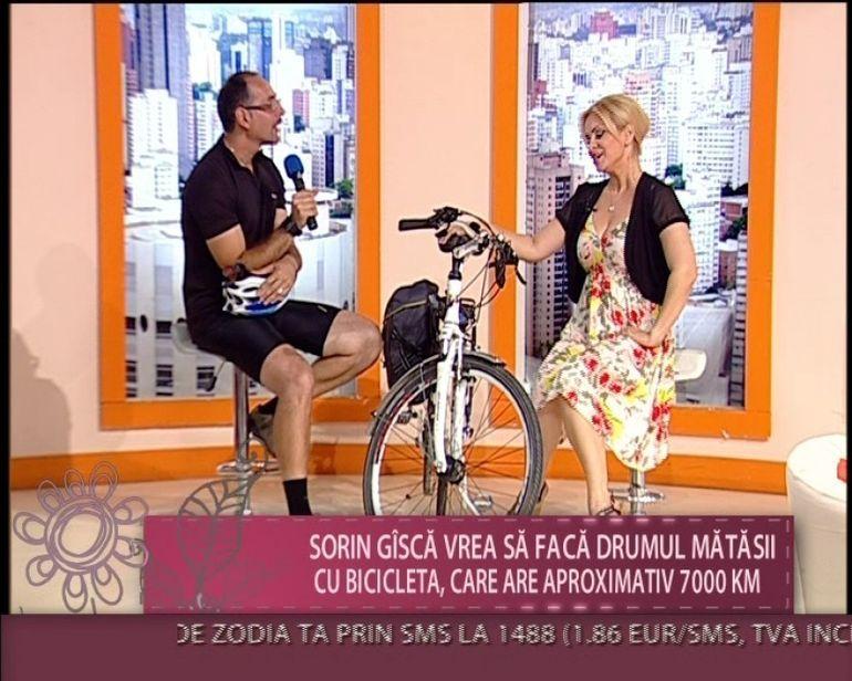 Sorin Gisca, unul dintre cei mai pasionati oameni de bicicleta: Vreau sa refac Drumul matasii, adica sa parcurg cei 7 000 de km VIDEO