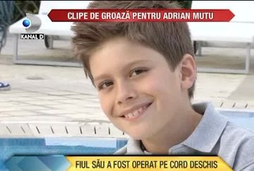 Clipe DE GROAZA pentru Adrian Mutu! Fiul sau a fost operat pe cord deschis VIDEO