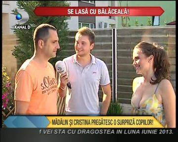 Madalin Ionescu si Cristina Siscanu vor sa le faca o MEGA SURPRIZA copiilor lor VIDEO
