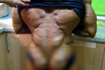 A vrut un trup de ZEU, insa toti ce care il vad INCREMENESC de frica! Uite in ce hal si-a DEFORMAT corpul FOTO