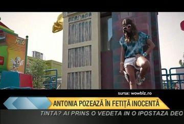 Antonia, ca un copil la o sedinta foto intr-un parc de distractii! Artista a facut pe toata lumea sa rada VIDEO