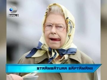 Strambatura saptamanii! Regina Elisabeta a II-a, asa cum nu ai mai vazut-o VIDEO