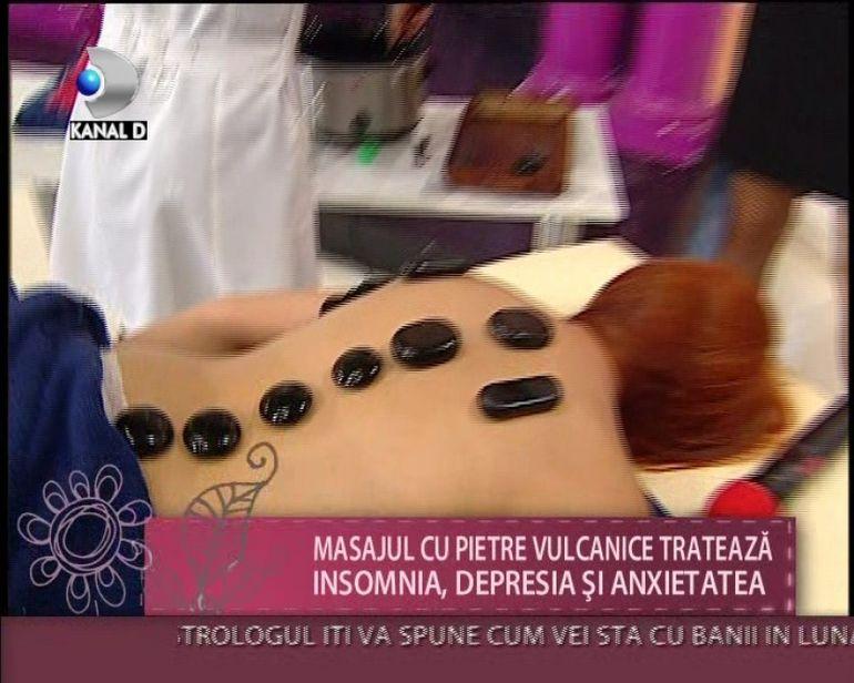 Masajul cu PIETRE VULCANICE, ideal pentru relaxare si detoxifiere
