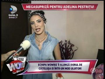 Adelina Pestritu a avut parte de un cadou inedit din partea echipei WOWbiz! Vezi despre ce este vorba