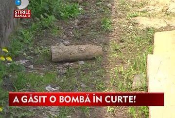Ar fi putut sari in aer in orice moment! Un maramuresean a gasit o bomba in curtea casei VIDEO