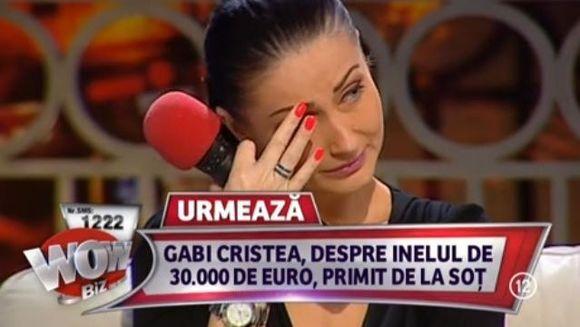 Gabriela Cristea, DOBORATA DE ACUZATIILE sotului. A izbucnit in LACRIMI in direct