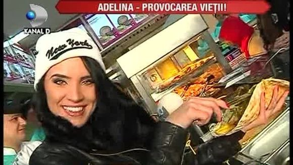 Adelina Pestritu a invatat sa prepare shaorma la un fast-food din Bucuresti