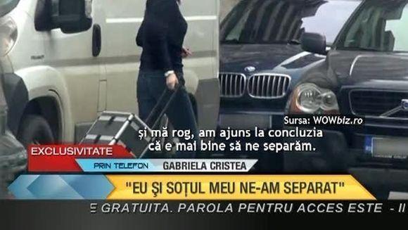 "EXCLUSIV! Gabriela Cristea RECUNOASTE: ""Eu si Marcel NE-AM SEPARAT! In momentul asta NU MAI LOCUIM IMPREUNA"" VIDEO"