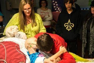 EMOTIONANT: VIS IMPLINIT pentru o fetita aflata pe patul de moarte! Vezi ce surpriza i-au facut apropiatii ei FOTO