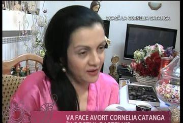 """Cornelia Catanga: """"Nu stiu, cred ca o sa fac avort, am vorbit si cu preotul"""" VIDEO"""