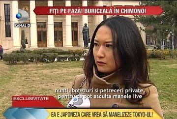 Ea vrea sa MANELIZEZE Japonia! Tanara care s-a stabilit in Romania pentru a studia acest stil de muzica. Este FAN INRAIT Florin Salam si Sorinel Pustiu VIDEO