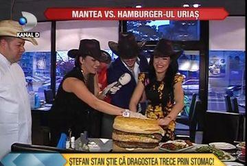 Dragostea trece prin stomac: Andreea Mantea a avut parte de o SURPRIZA DE PROPORTII! I s-a pregatit CEL MAI MARE hamburger din Europa VIDEO
