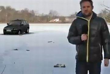 CUM s-a facut de ras un reporter in direct, in fata a sute de mii de oameni! VIDEO