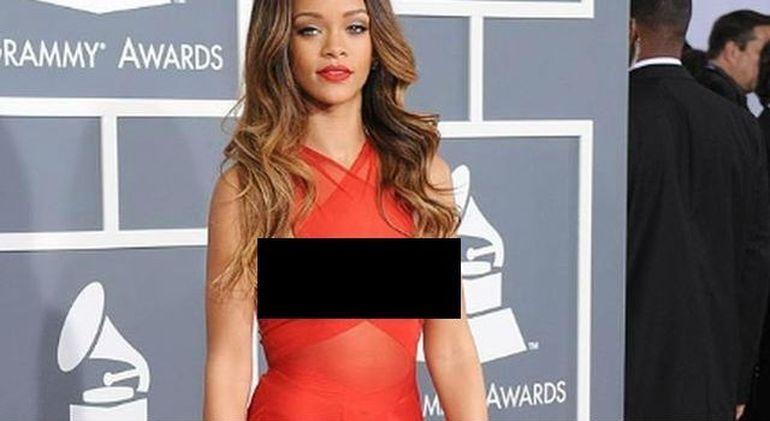 Rihanna A SUCIT mintile barbatilor! Si-a aratat SFARCURILE la Gala premiilor Grammy FOTO