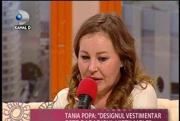 """Actrita Tania Popa isi creeaza singura tinutele: """"Designul vestimentar este viata mea"""" VIDEO"""