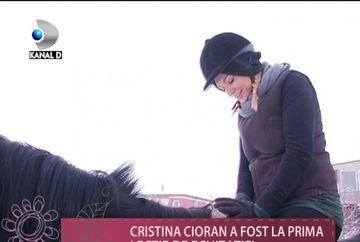 Cristina Cioran, prima lectie de echitatie! Vezi cum s-a descurcat actrita VIDEO