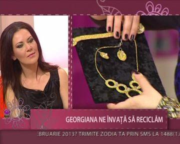Georgiana, tanara ca face bijuterii si decoratiuni din materiale reciclabile! VIDEO