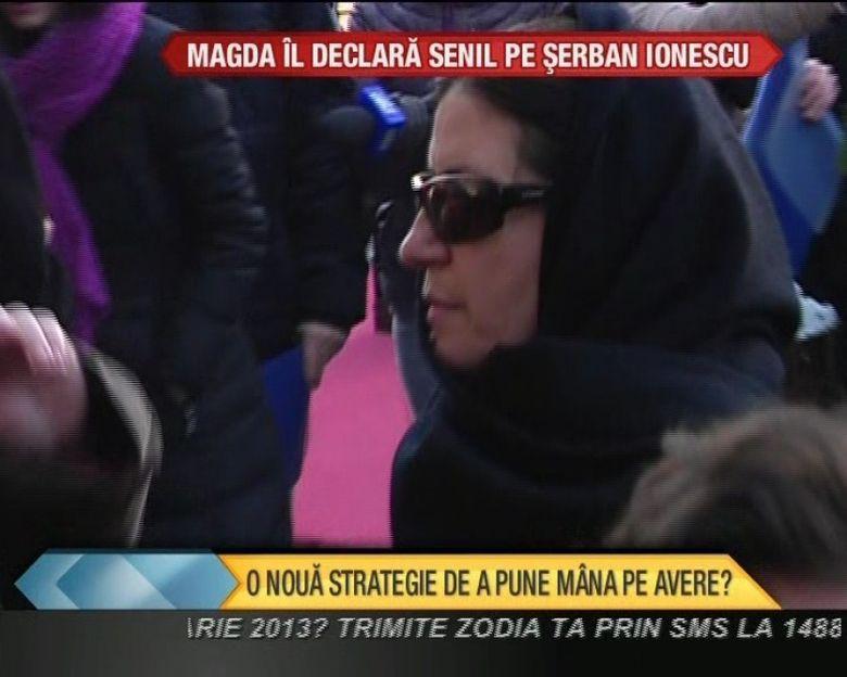 Magda Catone vrea sa il declare SENIL pe Serban Ionescu pentru a intra in posesia averii VIDEO